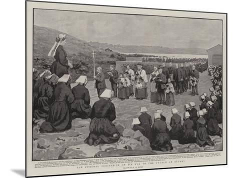 The Funeral Procession on its Way to the Church at Ushant-Henry Marriott Paget-Mounted Giclee Print