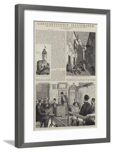 Constantinople Illustrated-Henry William Brewer-Framed Art Print