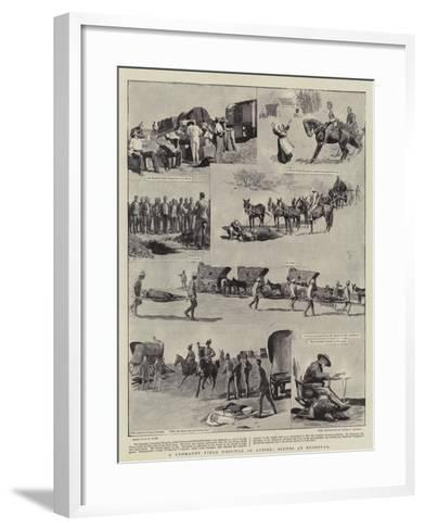 A Yeomanry Field Hospital in Action, Scenes at Roodeval-Henry Marriott Paget-Framed Art Print