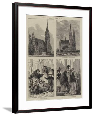 People and Places in Vienna-Henry William Brewer-Framed Art Print
