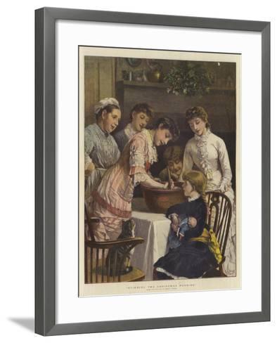 Stirring the Christmas Pudding-Henry Woods-Framed Art Print