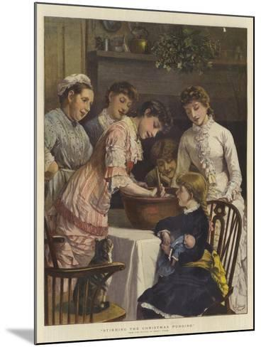 Stirring the Christmas Pudding-Henry Woods-Mounted Giclee Print