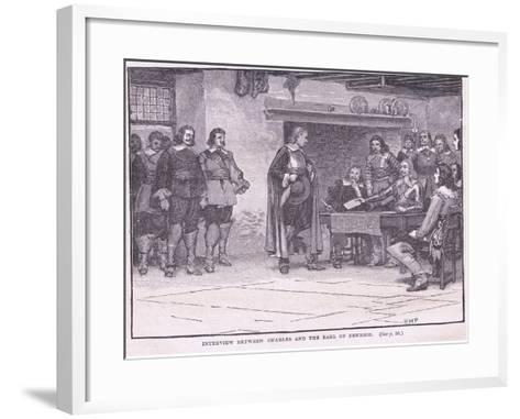 Interview Between Charles and the Earl of Denbigh Ad 1644-Henry Marriott Paget-Framed Art Print