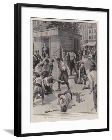 The Massacre of Christians in the Streets at Galata-Henry Marriott Paget-Framed Art Print
