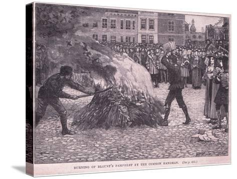 Burning of Blount's Pamphlets by the Common Hangman-Henry Marriott Paget-Stretched Canvas Print