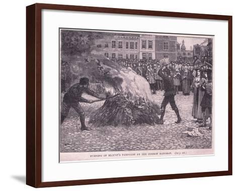 Burning of Blount's Pamphlets by the Common Hangman-Henry Marriott Paget-Framed Art Print
