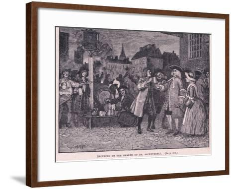Drinking the Health of Dr Saheverell AD 1710-Henry Marriott Paget-Framed Art Print