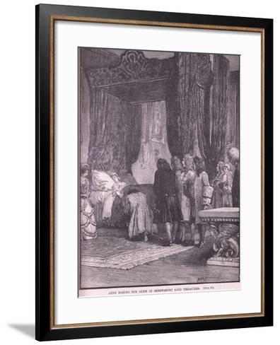 Anne Making the Duke of Shrewsbury Lord Treasurer Ad 1714-Henry Marriott Paget-Framed Art Print