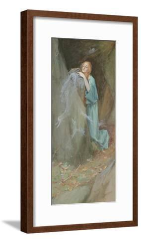 Study for Pandora, 1902-Henry Meynell Rheam-Framed Art Print