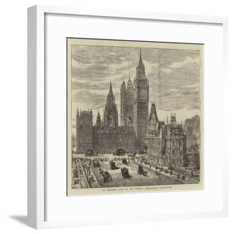 St Stephen's Club, on the Victoria Embankment, Westminster-Henry William Brewer-Framed Art Print