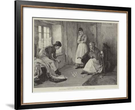 Consulting the Wise Woman-Henry Meynell Rheam-Framed Art Print