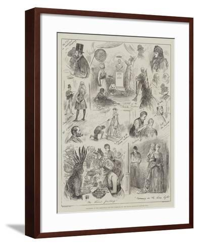Sketches at the Rehearsal for the Tableaux of the Royal Institute Costume Ball-Henry Stephen Ludlow-Framed Art Print