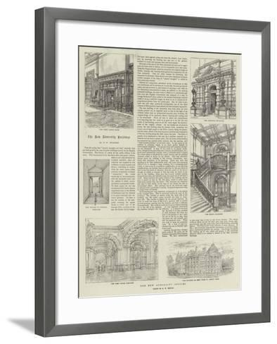 The New Admiralty Offices-Henry William Brewer-Framed Art Print
