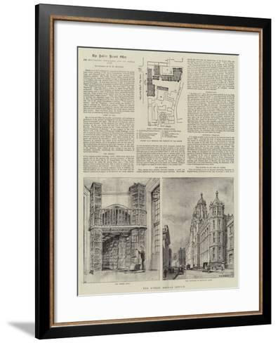 The Public Record Office-Henry William Brewer-Framed Art Print