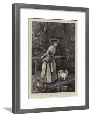 What's That?-Henry Woods-Framed Art Print