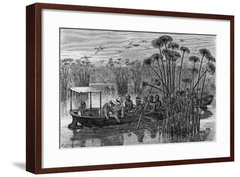 At the Mouth of the Rusizi-Henry Morton Stanley-Framed Art Print