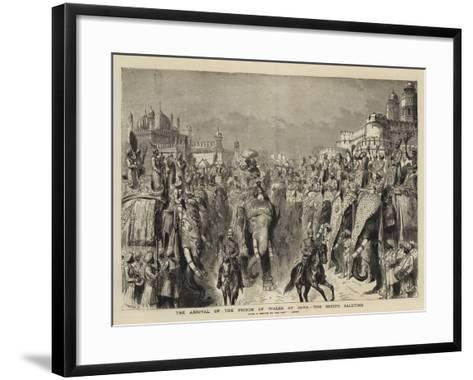 The Arrival of the Prince of Wales at Agra, the Chiefs Saluting-Henry William Brewer-Framed Art Print