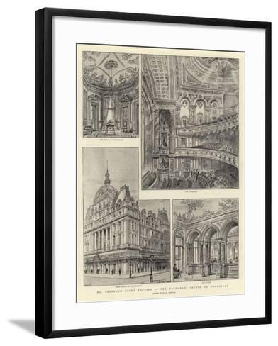 Mr Beerbohm Tree's Theatre in the Haymarket Opened on Wednesday-Henry William Brewer-Framed Art Print