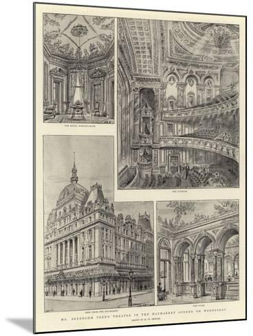 Mr Beerbohm Tree's Theatre in the Haymarket Opened on Wednesday-Henry William Brewer-Mounted Giclee Print
