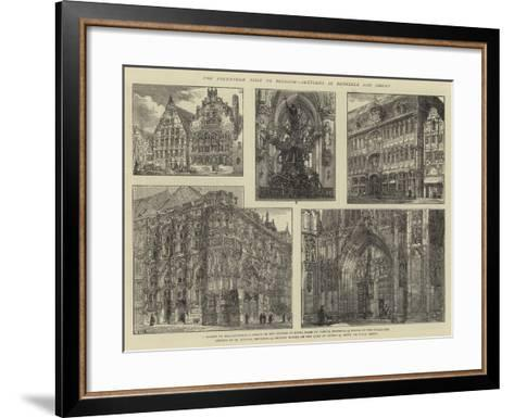 The Volunteer Visit to Belgium, Sketches in Brussels and Ghent-Henry William Brewer-Framed Art Print