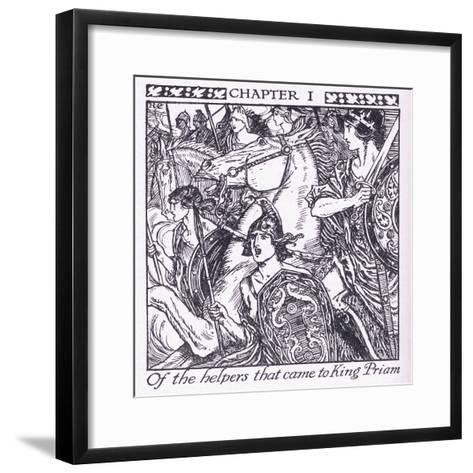 Of the Helpers Who Came to King Priam-Herbert Cole-Framed Art Print