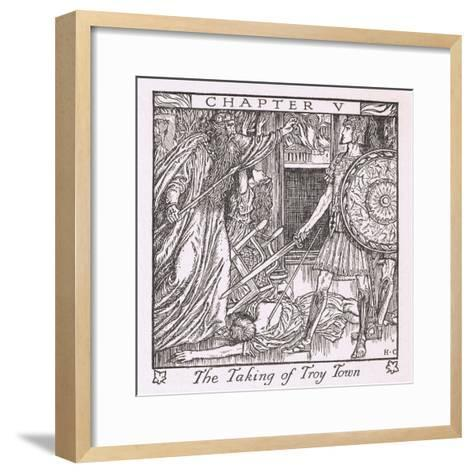 The Taking of Troy Town-Herbert Cole-Framed Art Print