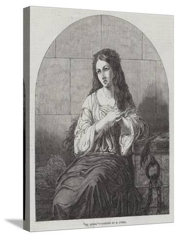 St Agnes-Henry O'Neill-Stretched Canvas Print
