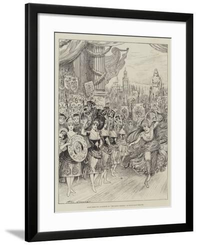 Scene from the Pantomime of The Forty Thieves at Drury-Lane Theatre-Henry Stephen Ludlow-Framed Art Print