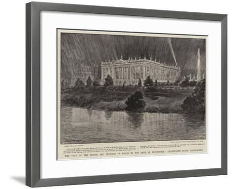 The Visit of the Prince and Princess of Wales to the Duke of Devonshire-Henry William Brewer-Framed Art Print