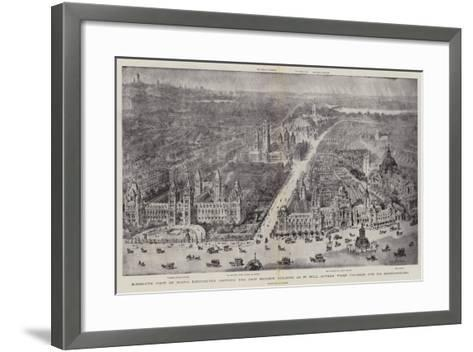 Bird'S-Eye View of South Kensington Showing the New Museum Building as it Will Appear When Finished-Henry William Brewer-Framed Art Print