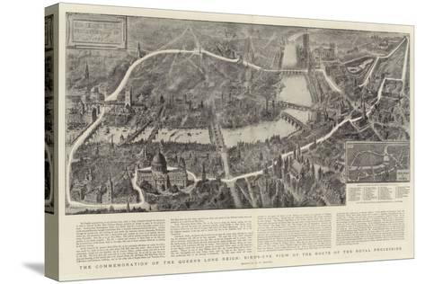 The Commemoration of the Queen's Long Reign, Bird'S-Eye View of the Route of the Royal Procession-Henry William Brewer-Stretched Canvas Print