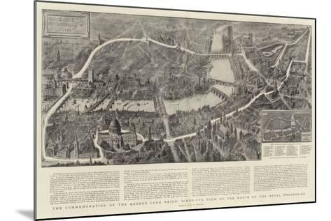 The Commemoration of the Queen's Long Reign, Bird'S-Eye View of the Route of the Royal Procession-Henry William Brewer-Mounted Giclee Print