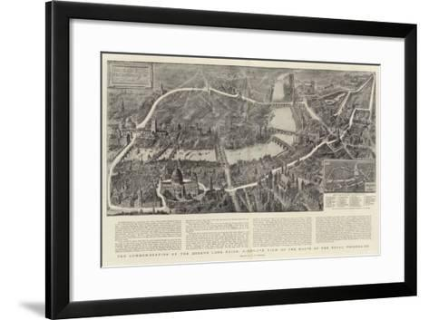The Commemoration of the Queen's Long Reign, Bird'S-Eye View of the Route of the Royal Procession-Henry William Brewer-Framed Art Print