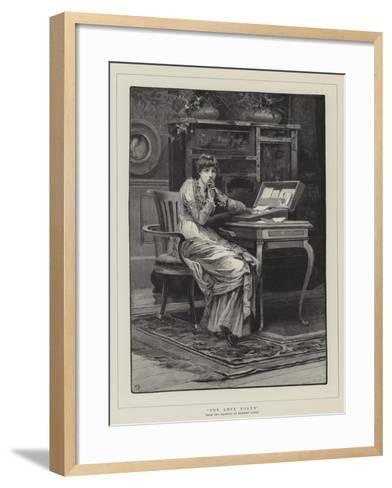 The Love Token-Herbert Gandy-Framed Art Print