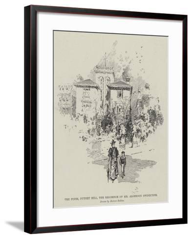 The Pines, Putney Hill, the Residence of Mr Algernon Swinburne-Herbert Railton-Framed Art Print