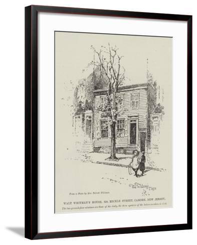 Walt Whitman's House, 328, Mickle Street, Camden, New Jersey-Herbert Railton-Framed Art Print