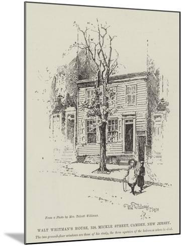 Walt Whitman's House, 328, Mickle Street, Camden, New Jersey-Herbert Railton-Mounted Giclee Print