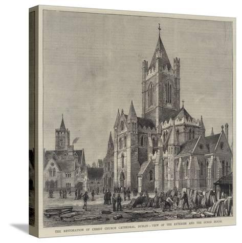 The Restoration of Christ Church Cathedral, Dublin, View of the Exterior and the Synod House-Henry William Brewer-Stretched Canvas Print