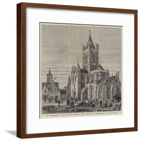The Restoration of Christ Church Cathedral, Dublin, View of the Exterior and the Synod House-Henry William Brewer-Framed Art Print