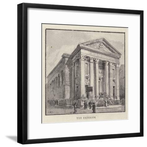 The Roman Catholic Church of St Mary, Moorfields, City, Which Is About to Be Pulled Down-Henry William Brewer-Framed Art Print