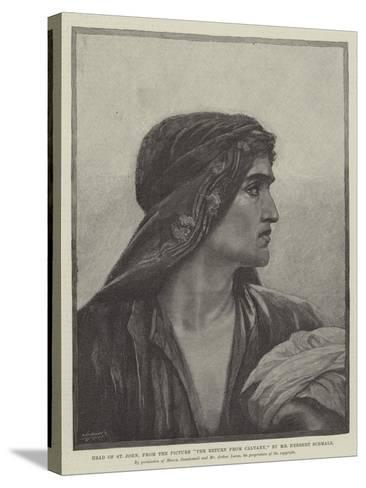 Head of St John, from the Picture The Return from Cavalry-Herbert Gustave Schmalz-Stretched Canvas Print