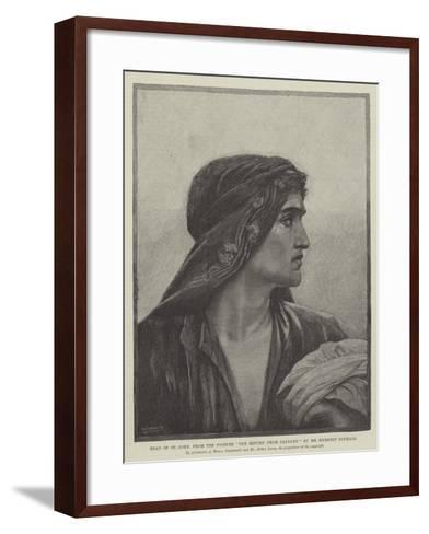 Head of St John, from the Picture The Return from Cavalry-Herbert Gustave Schmalz-Framed Art Print