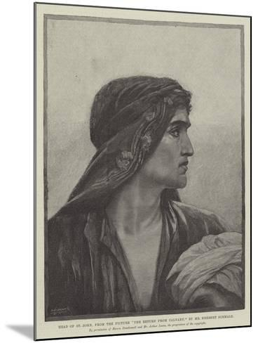Head of St John, from the Picture The Return from Cavalry-Herbert Gustave Schmalz-Mounted Giclee Print