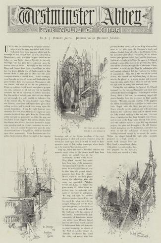 Westminster Abbey-Herbert Railton-Stretched Canvas Print