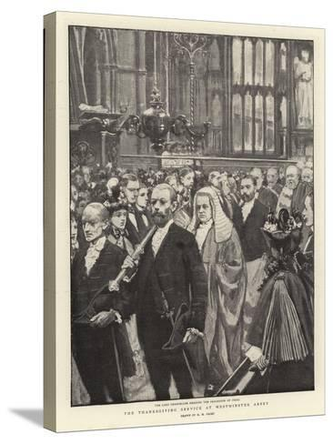 The Thanksgiving Service at Westminster Abbey-Henry Marriott Paget-Stretched Canvas Print