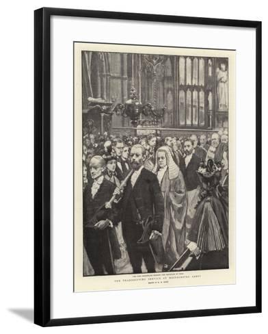 The Thanksgiving Service at Westminster Abbey-Henry Marriott Paget-Framed Art Print