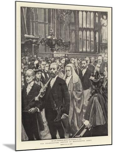 The Thanksgiving Service at Westminster Abbey-Henry Marriott Paget-Mounted Giclee Print