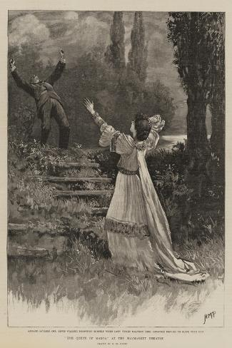 The Queen of Manoa at the Haymarket Theatre-Henry Marriott Paget-Stretched Canvas Print