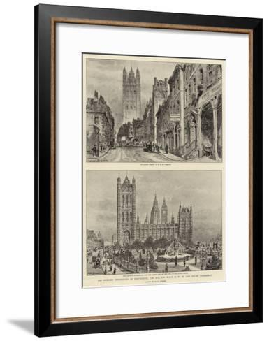 The Proposed Embankment at Westminster, the Bill for Which Is to Be Laid before Parliament-Henry William Brewer-Framed Art Print