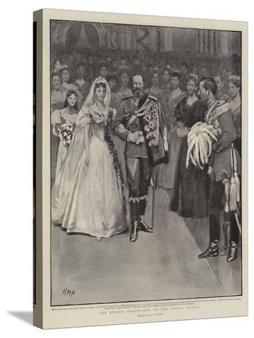 The Bride's Procession to the Court Chapel-Henry Marriott Paget-Stretched Canvas Print